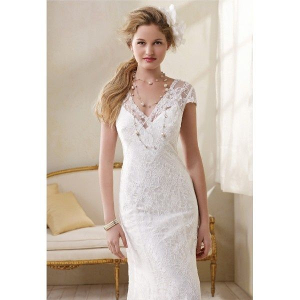 Wedding dresses for second marriages over 40 lace over for Wedding dresses women over 40