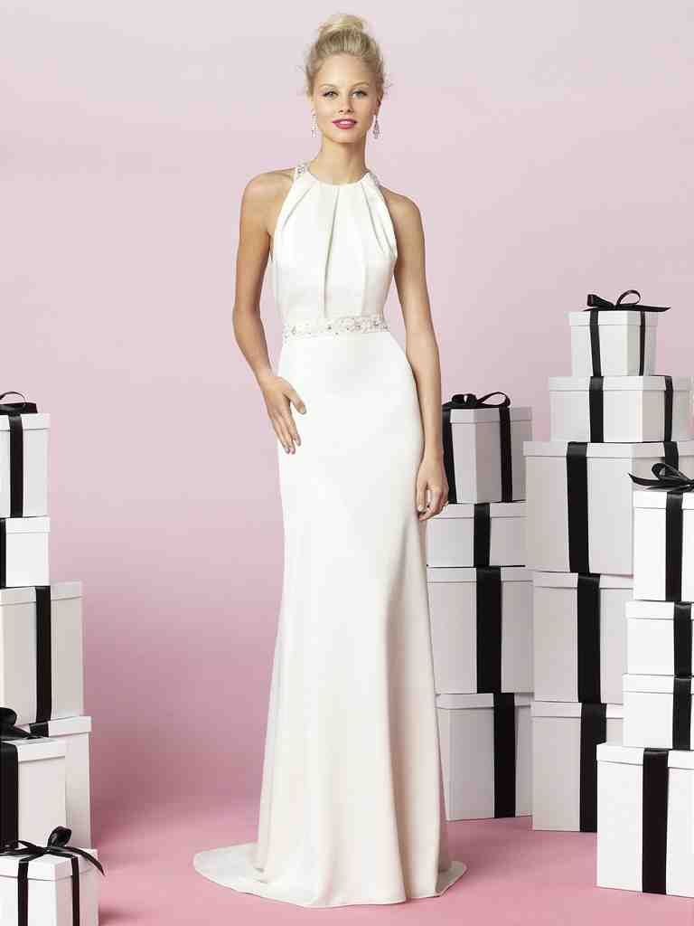 Simple Elegant Wedding Dresses Second Wedding 1 | A - Bridal Gowns ...