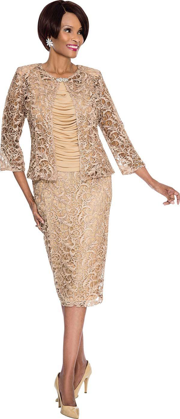 Terramina 7506 Womens Intricate Lace Design Suit Lady S Church