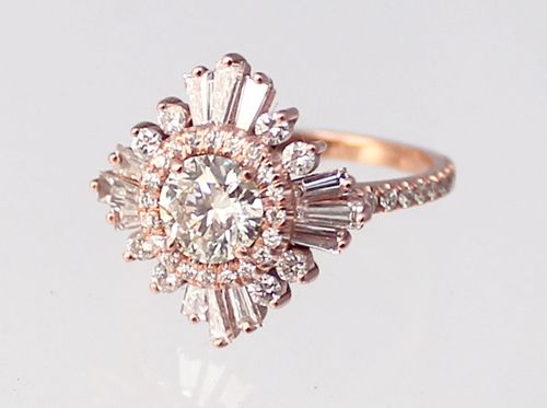 Sylvie and Joan just love Heidi Gibson's art deco inspired engagement rings. Beautiful! The Gatsby.