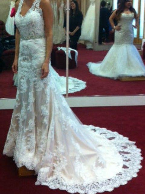 Maggie Sottero Melanie/Ivory over Light Gold Size 2 Wedding Dress ...
