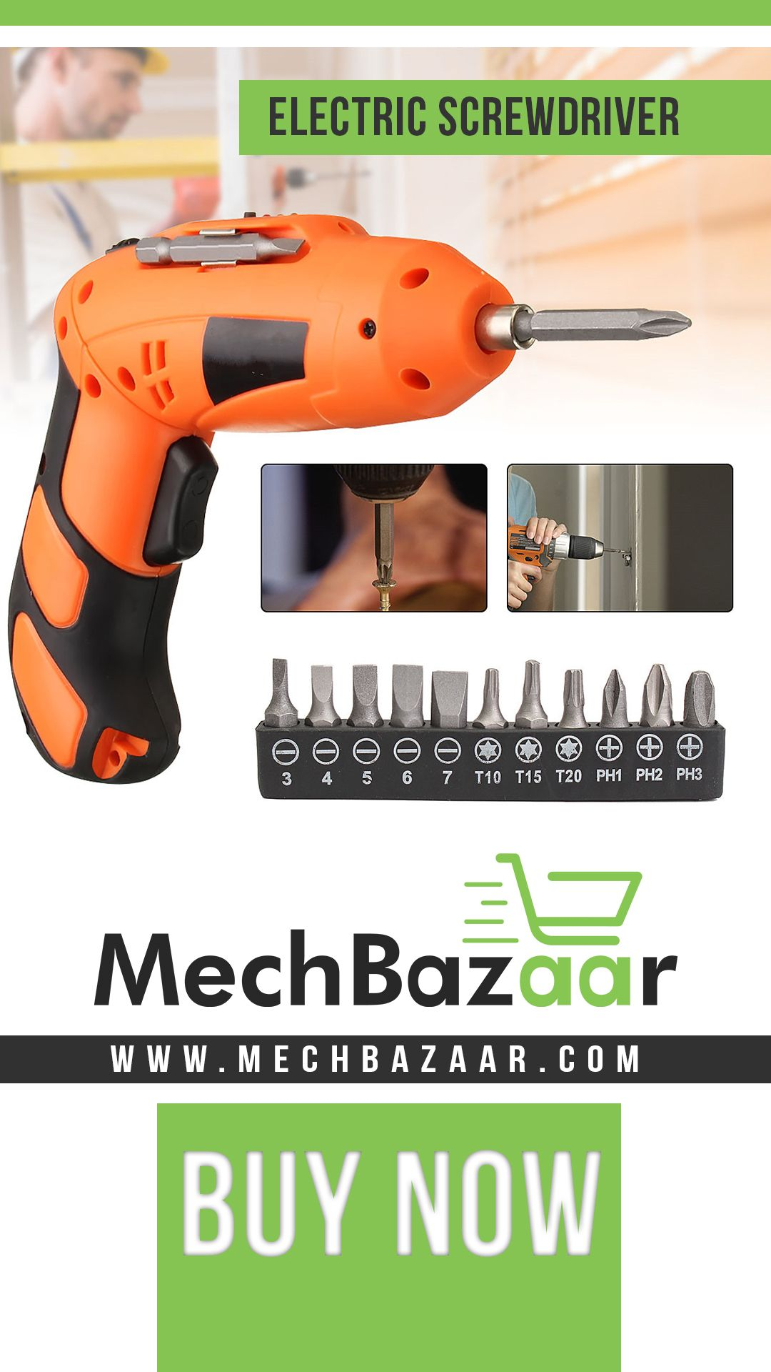 One Tool For All Screws Drive Even The Biggest Screws Into Wood And Walls Without Drilling Pilot Hole Tools Drill Electric Screwdriver