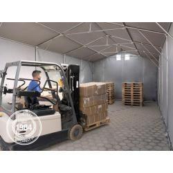 Photo of Zelthalle 6x8m Pvc 550 g/m² grau wasserdicht Industriezelt ToolportToolport