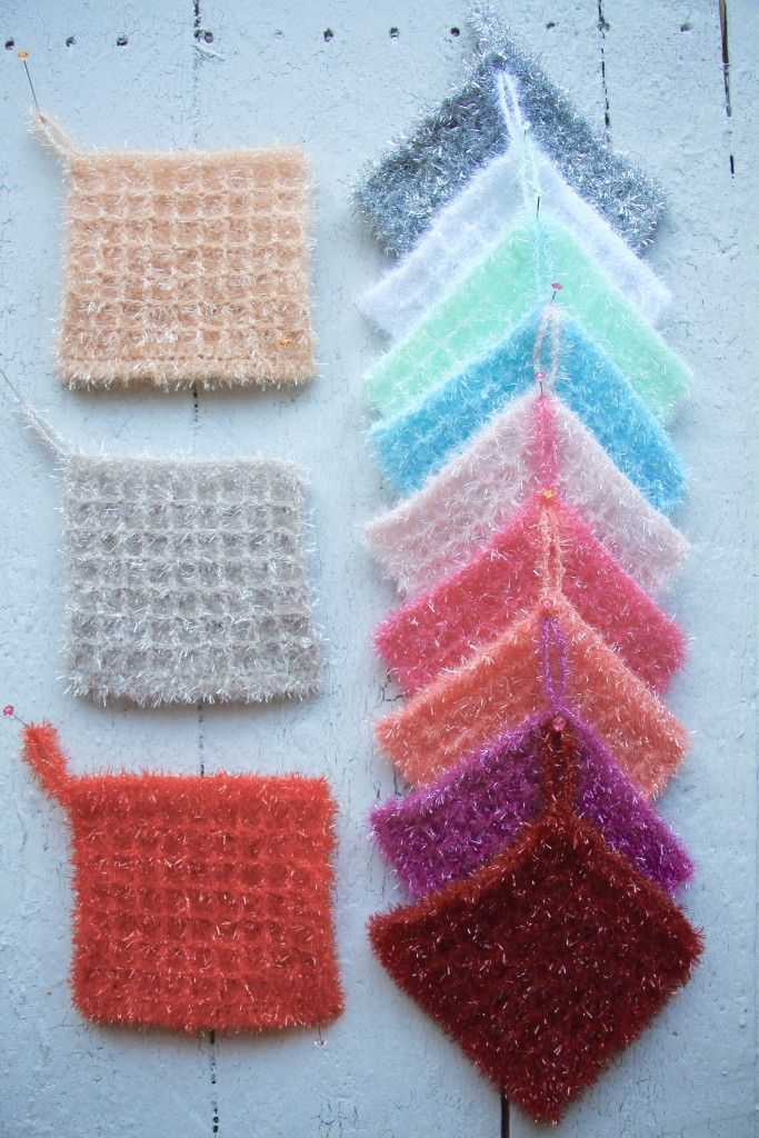 Rechteck   Crochet Sponge Yarn / Schwammgarn ...
