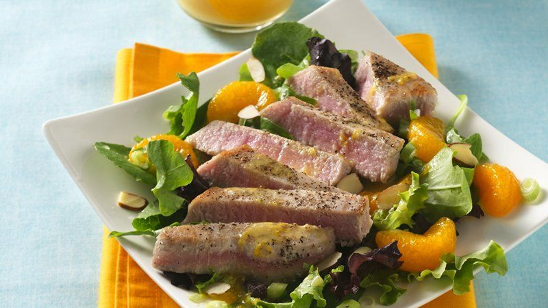 Citrus and cilantro vinaigrette provides a simple addition to this tasty tuna salad that's ready in 30 minutes - perfect for dinner.