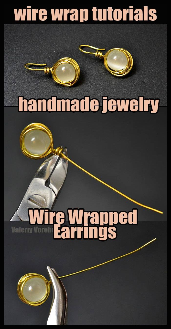 Photo of Wire Wrapped Earrings. Wire wrap tutorial.
