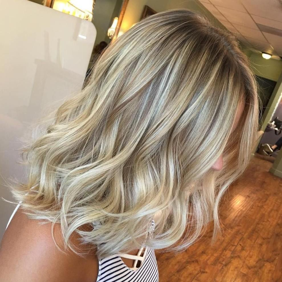 Straight Mid Length Ash Blonde Hair With Layers With Images