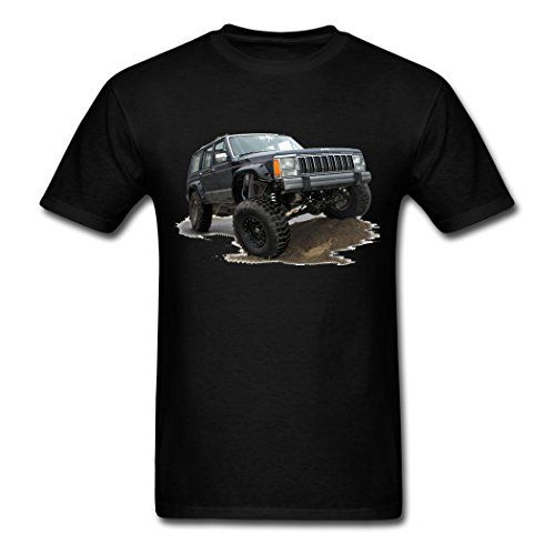 Unisex Cotton Men S Jeep Cherokee Xj T Shirt With Images Jeep