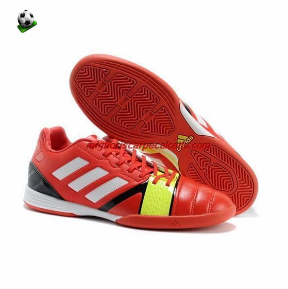 reputable site b274c b7edc Scarpini Da Calcio Adidas Bambino Nitrocharge 1 Fit TRX IC Indoor Leather  Rosso Bianco