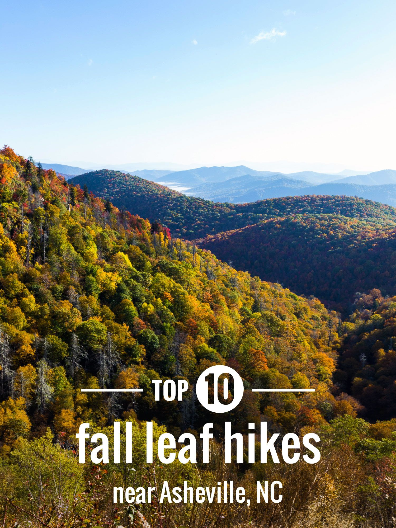 top fall foliage hikes near asheville and in the western nc