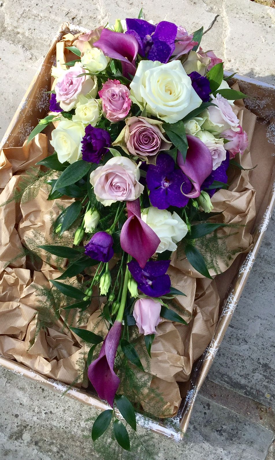 Example teardrop bouquet (not for the shape) but to