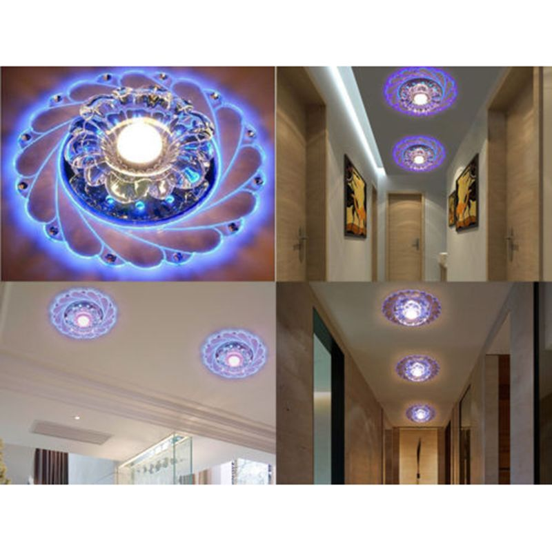 New modern crystal led ceiling blue light superior lamp lighting chandelier