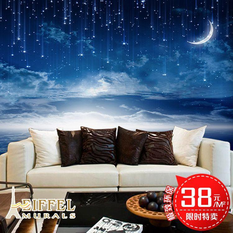 Business 3d universe large mural star hotel bedroom sofa for Universe wallpaper for bedroom