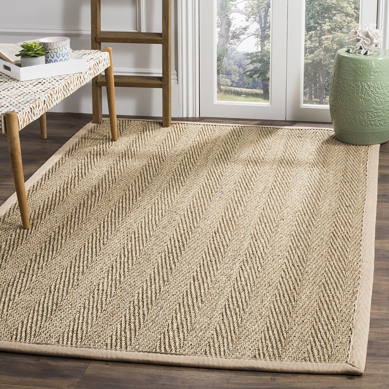 Amazon Com Safavieh Natural Fiber Collection Nf115a Herringbone Natural And Beige Seagrass Area Rug 6 X 9 Seagrass Rug Seagrass Area Rug Natural Fiber Rugs