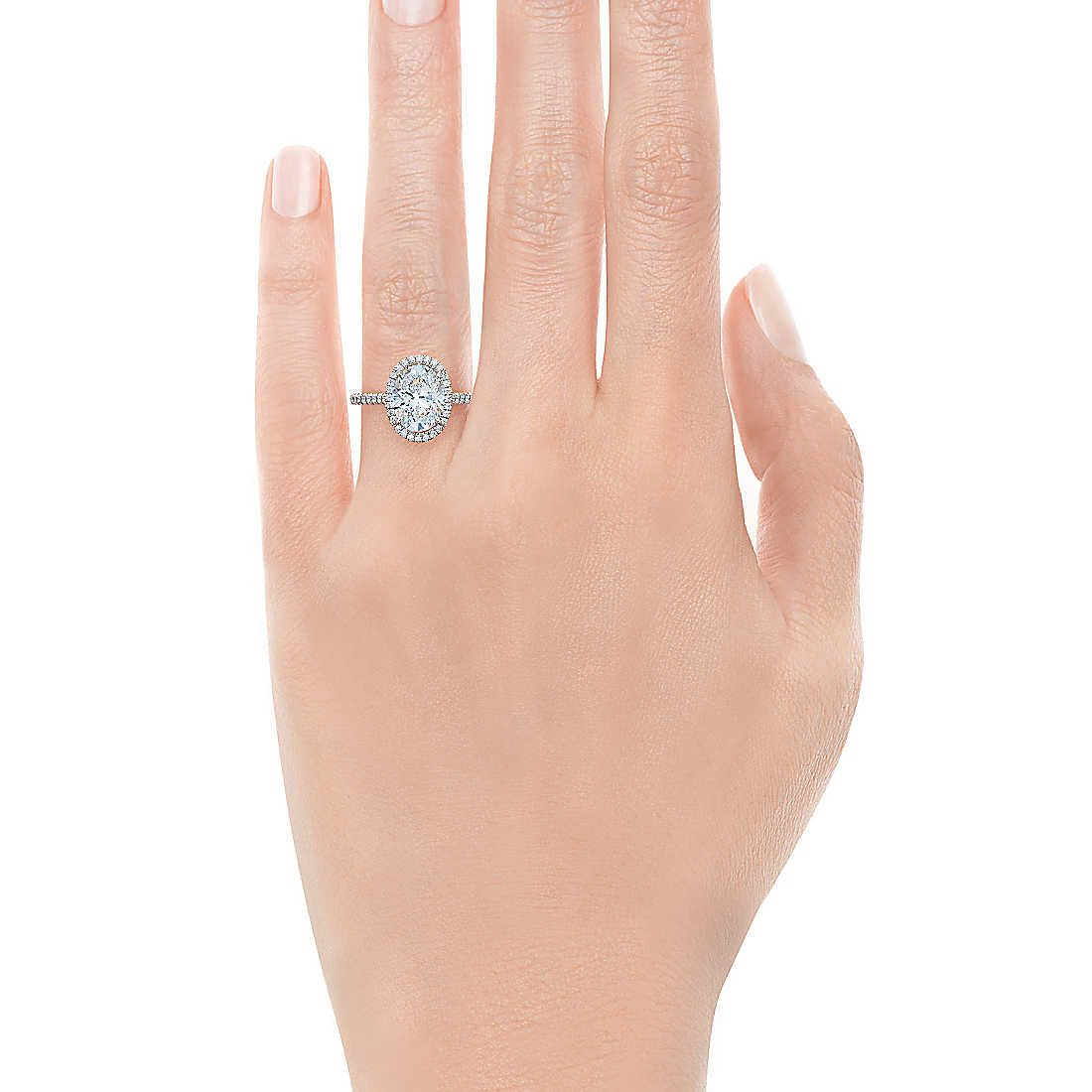 Engagement ring tiffany on hand  Tiffany Soleste® Oval