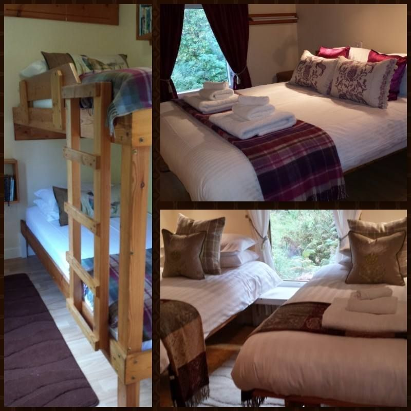 the bedrooms are filled with cozy wool throws and beautiful voyage cushions. www.riversidelodge.org.uk www.voyage.com