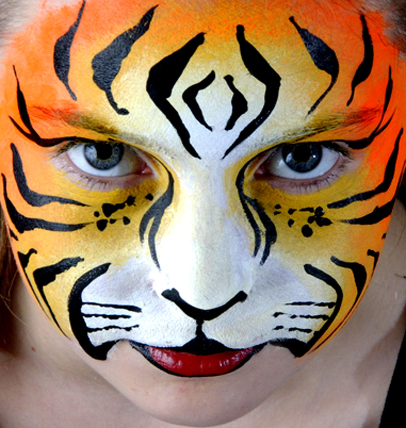 tiger face paint design images galleries with a bite. Black Bedroom Furniture Sets. Home Design Ideas