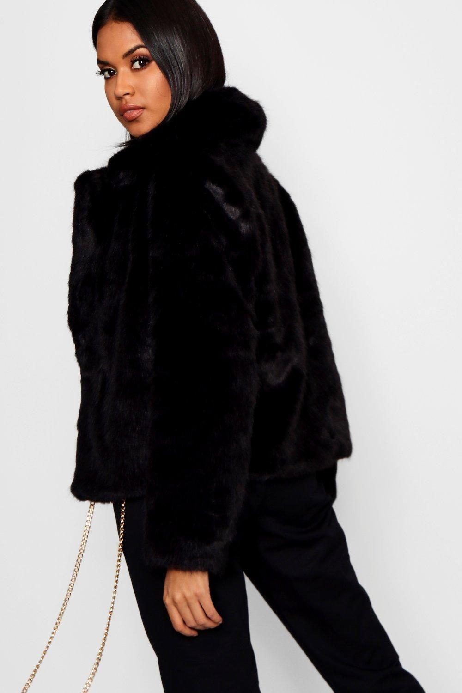 Luxe Faux Fur Coat Boohoo Black Faux Fur Coat Fur Coat Fur