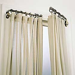 Swing Arm Curtain Rod- Perfect for my French Doors!!!