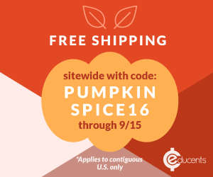 4 Great Fall Deals on curriculum! Use and share code PUMPKINSPICE16 now through 9/15! One time use, no minimum. Happy Fall!