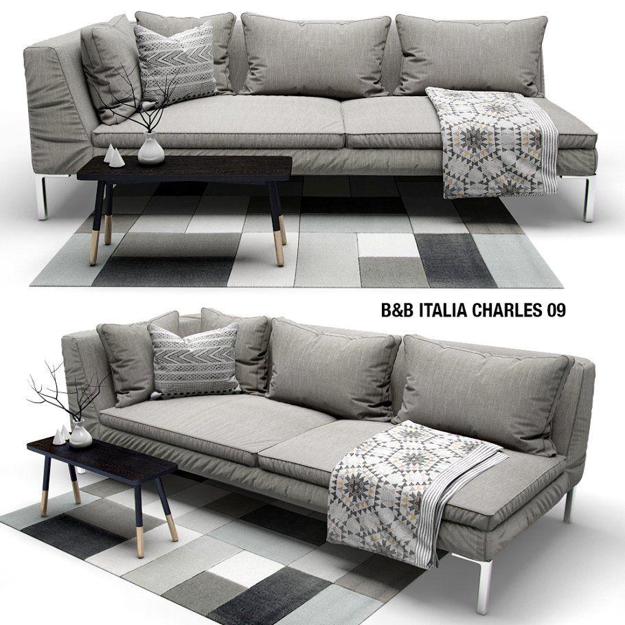 3d Model Sofa Italia Charles 116 Free Download Sofa Set B B Italia