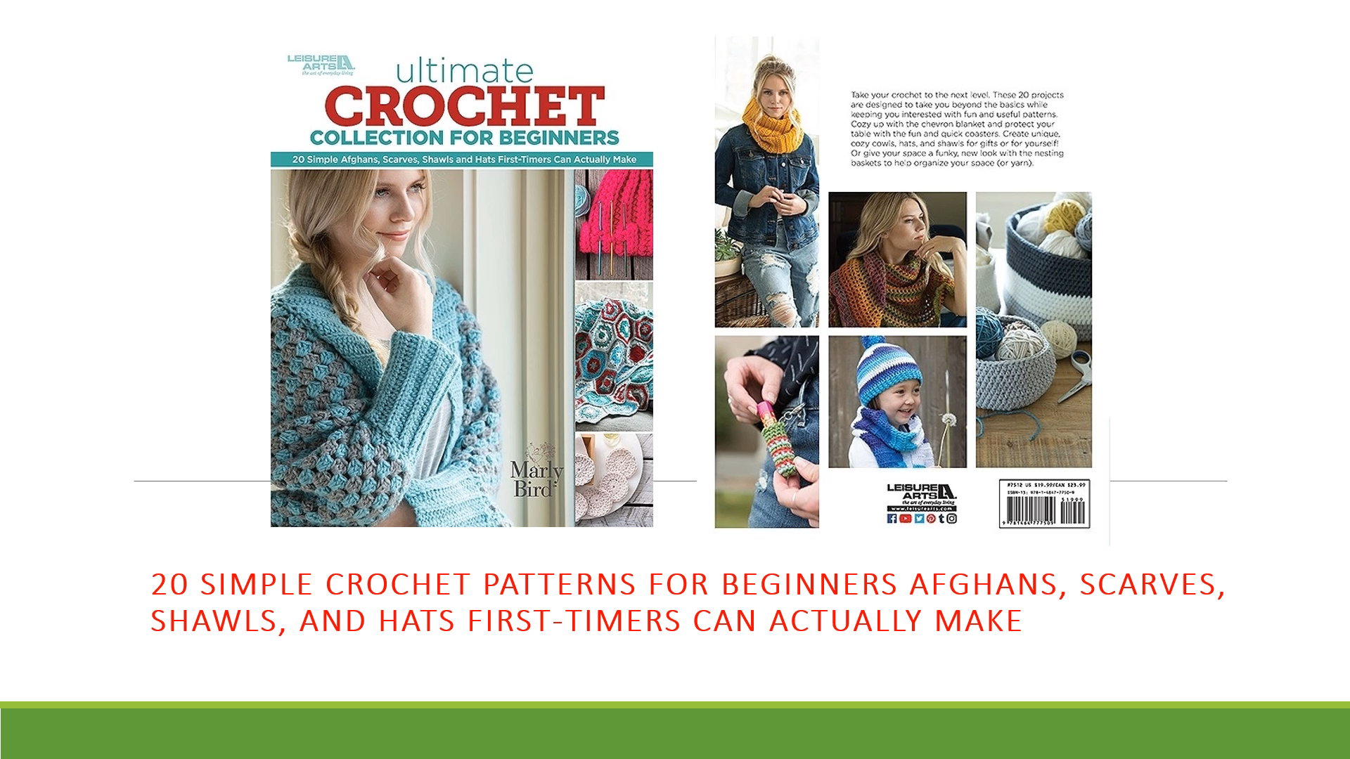 Photo of 20 Simple Crochet Patterns for Beginners Afghans, Scarves, Shawls, and Hats First-Timers Can Make