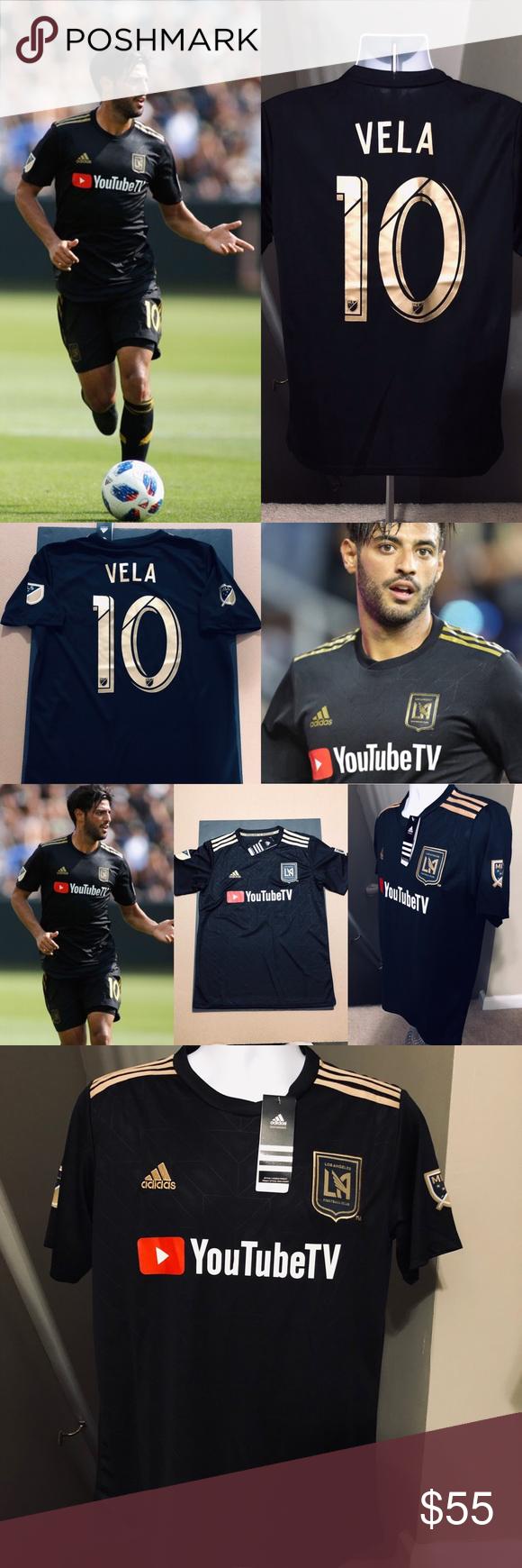 8f50fbe44ee Carlos Vela  10 Los Angeles LA FC Soccer Jersey 2019 Los Angeles FC • LA FC  • LAFC Carlos Vela  10 Home Version Kit Brand New ~ MEDIUM ~ Men s Soccer  ...