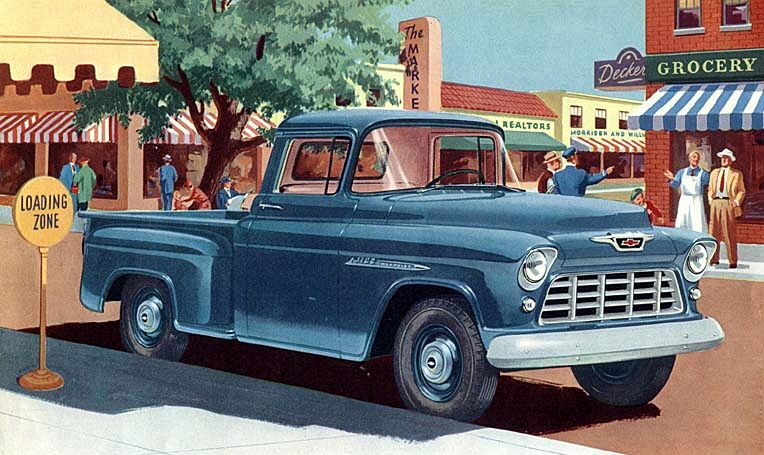 '55 Chevy Pickup - Vintage Ad Artwork   I Can't Drive '55 ...