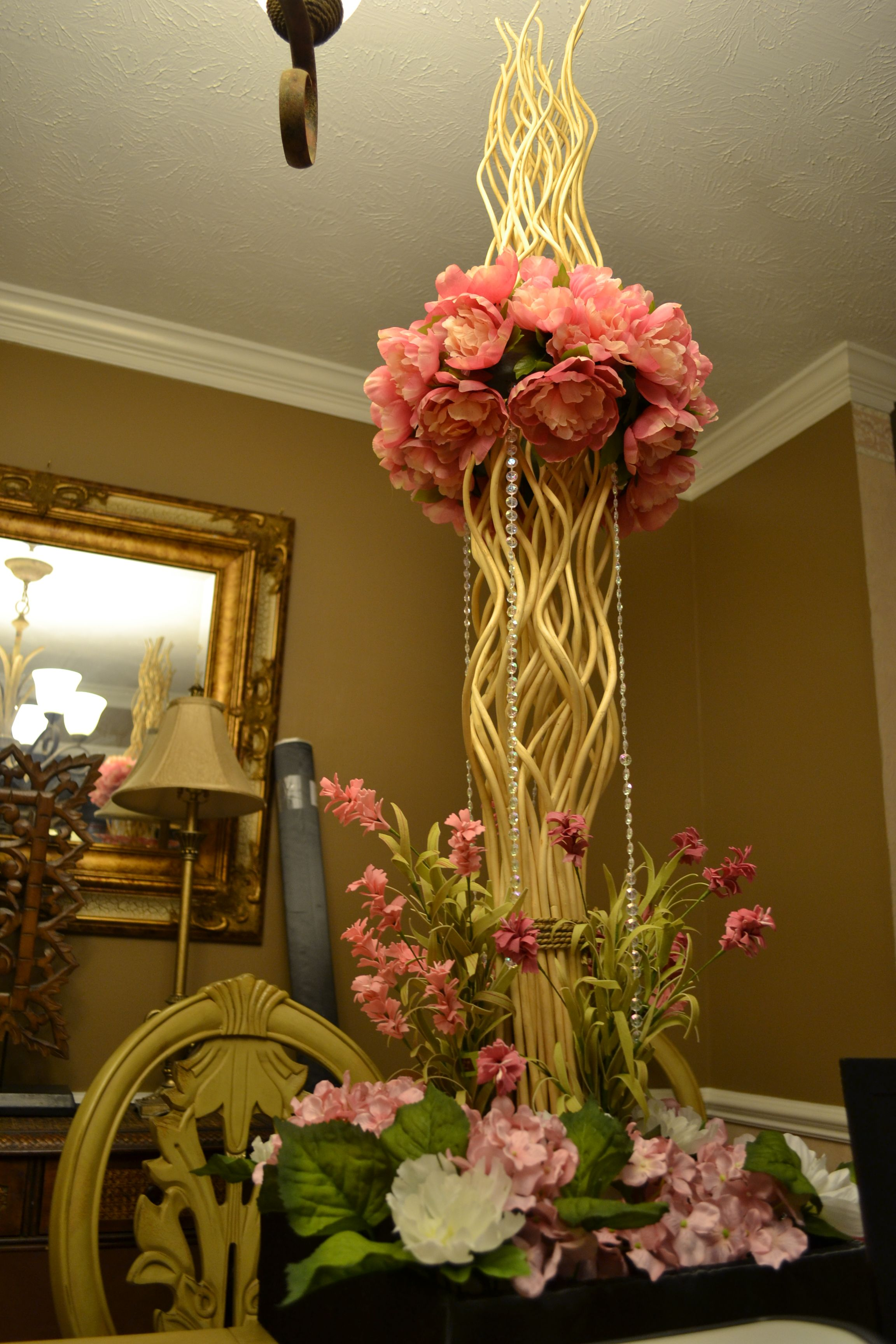 I made this floral centerpiece for my daughters wedding weddings i made this floral centerpiece for my daughters wedding bamboo centerpiecescenterpiece weddingtable junglespirit Choice Image