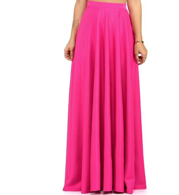 b5311853bc Hot Pink Grand Scuba Maxi Skirt | Wannabe Closet | Skirts, Dress ...