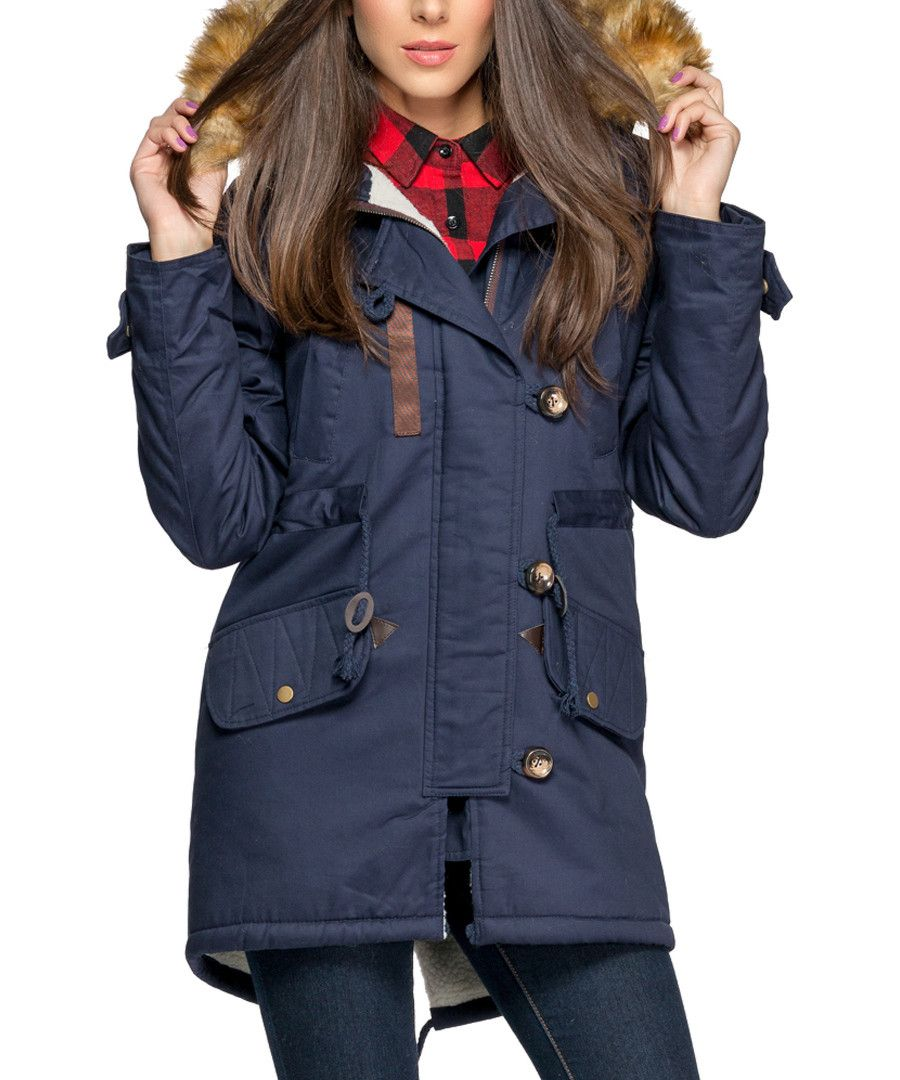 ISABEL BY ROZARANCIO Red down filled zip parka coat, Designer ...