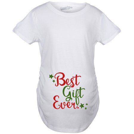 crazy dog tshirts maternity best gift ever t shirt funny christmas bump pregnancy tee for women