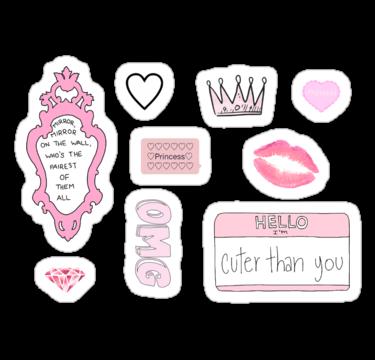 Girly Tumblr Stickers Sticker By Amandabrynn Tumblr Stickers Planner Stickers Aesthetic Stickers