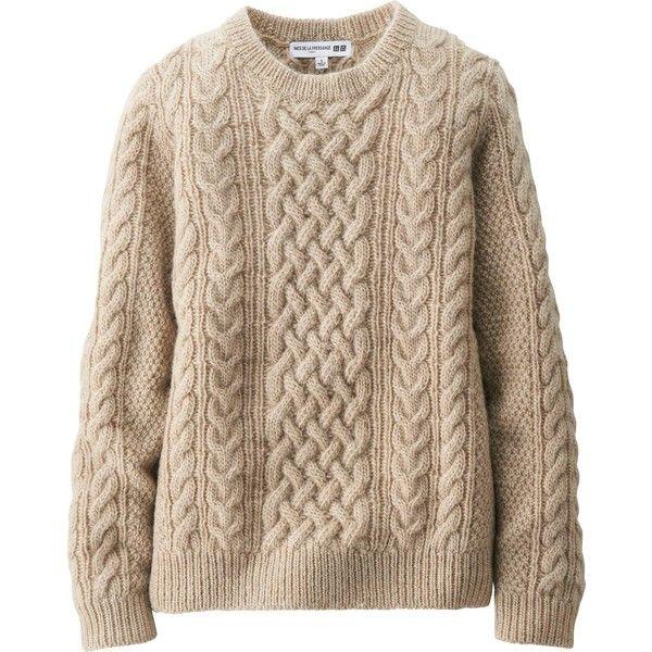 UNIQLO Women Idlf Heavy Gauge Cable Crew Neck Sweater ($50 ...