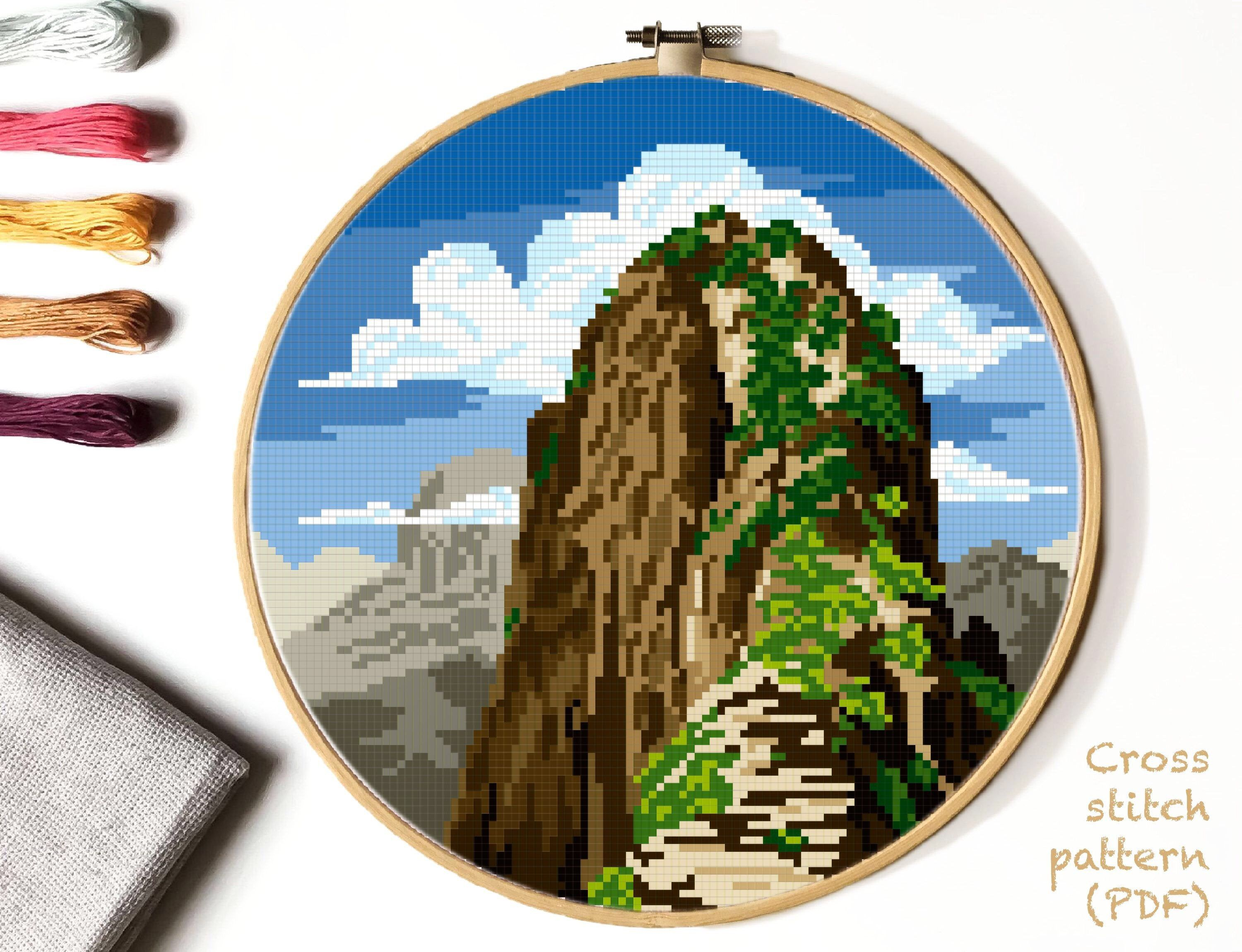 Zion National Park Modern Cross Stitch Pattern Nature Counted