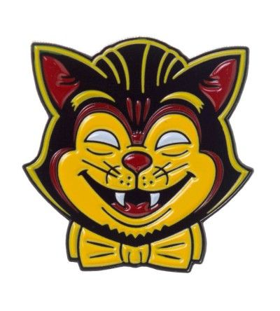 Kustom Kreeps Enamel Pin Creepy Cat Creepy cat, Cat