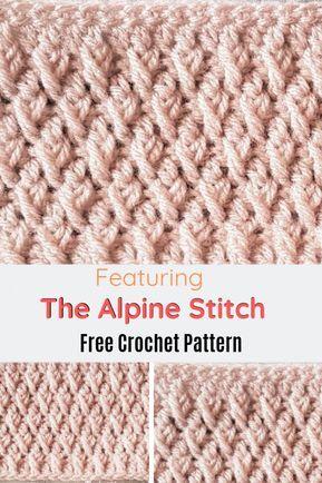 Learn A New Crochet Stitch: The Crochet Alpine Stitch