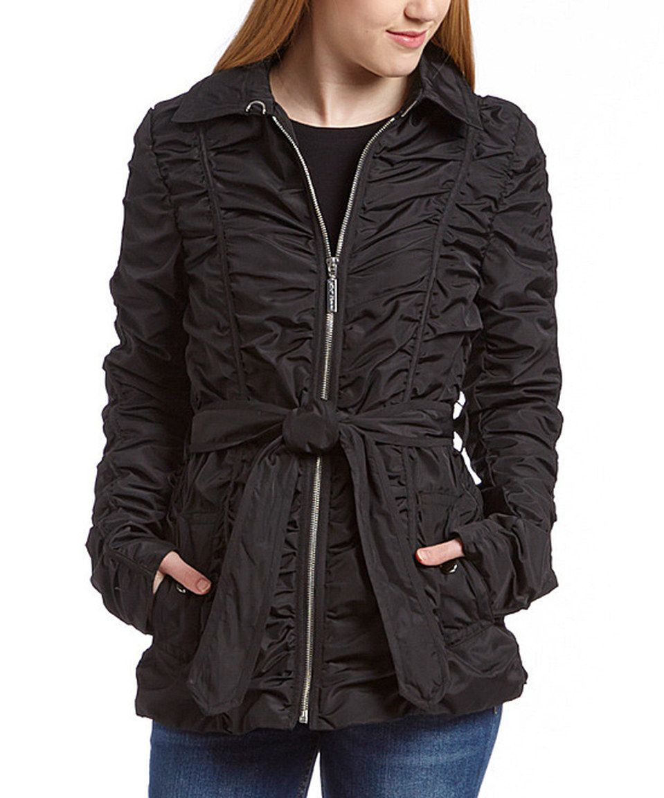 This Black Ruched Jacket - Women by Betsey Johnson is perfect! #zulilyfinds