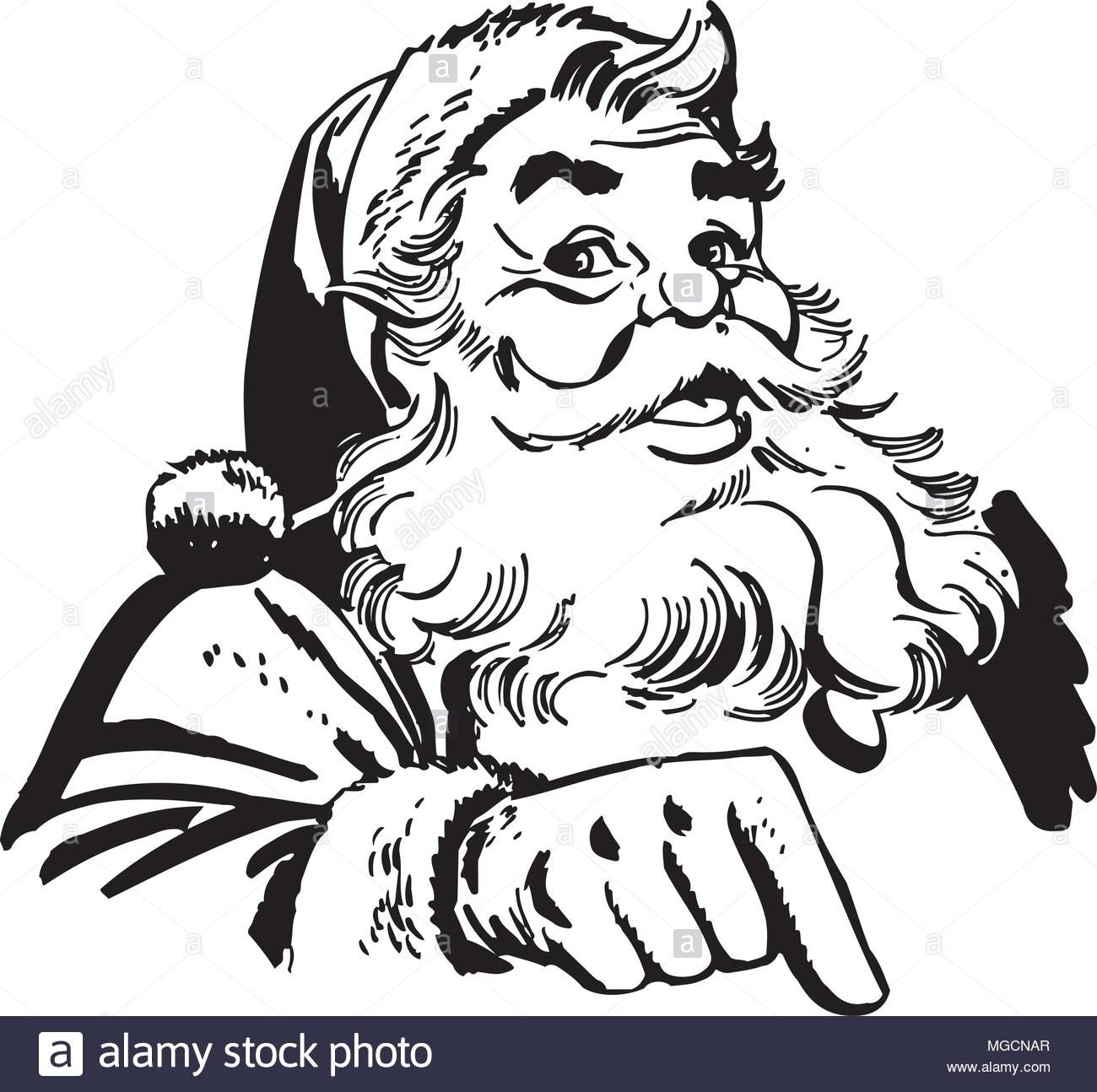 Download This Stock Vector Santa Claus Pointing Retro Clipart Illustration Mgcnar From Alamy S Libra Vintage Santa Claus Santa Claus Vector Vintage Santas