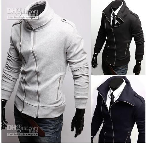 1pcs/lot) Unique Men's Jacket Cotton High Collar Slim Fashion ...