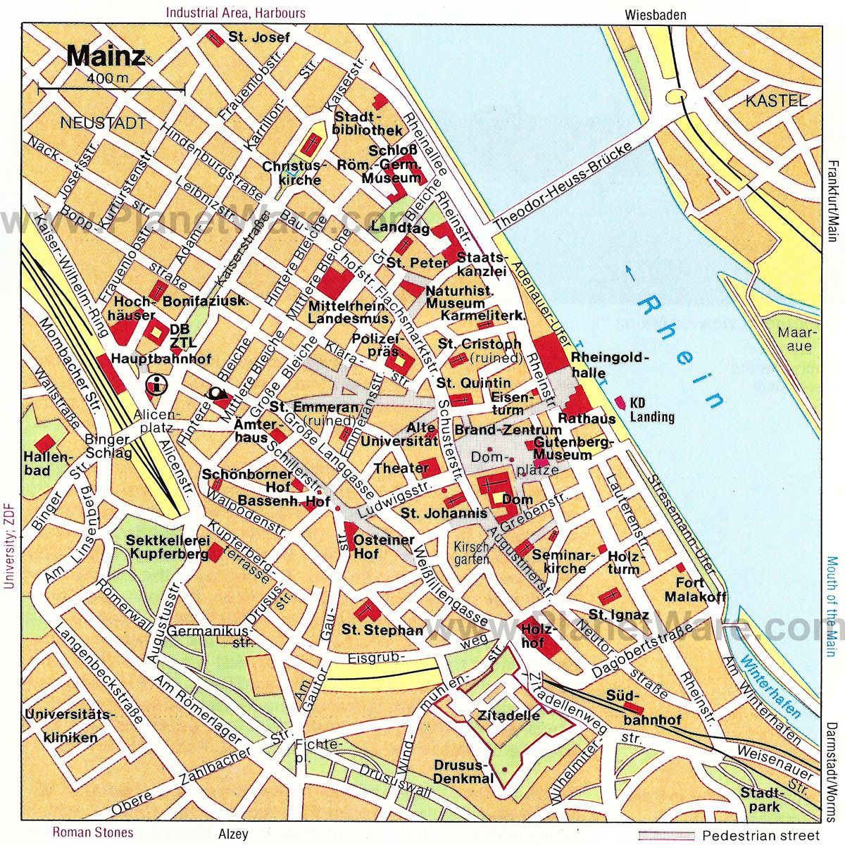 Mainz Map Tourist Attractions To learn more about Mainz