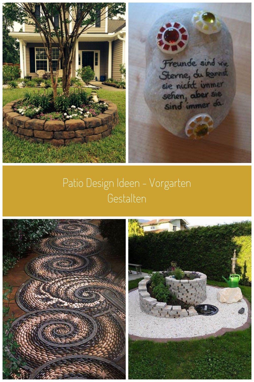 Gartengestaltung Steine Vorgarten