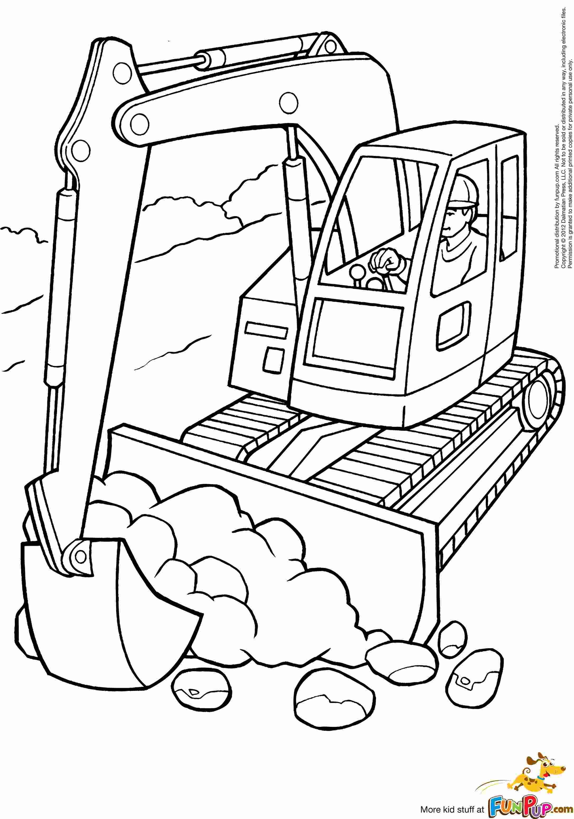 Excavator Coloring Pages Tractor Coloring Pages Truck Coloring Pages Kids Colouring Printables