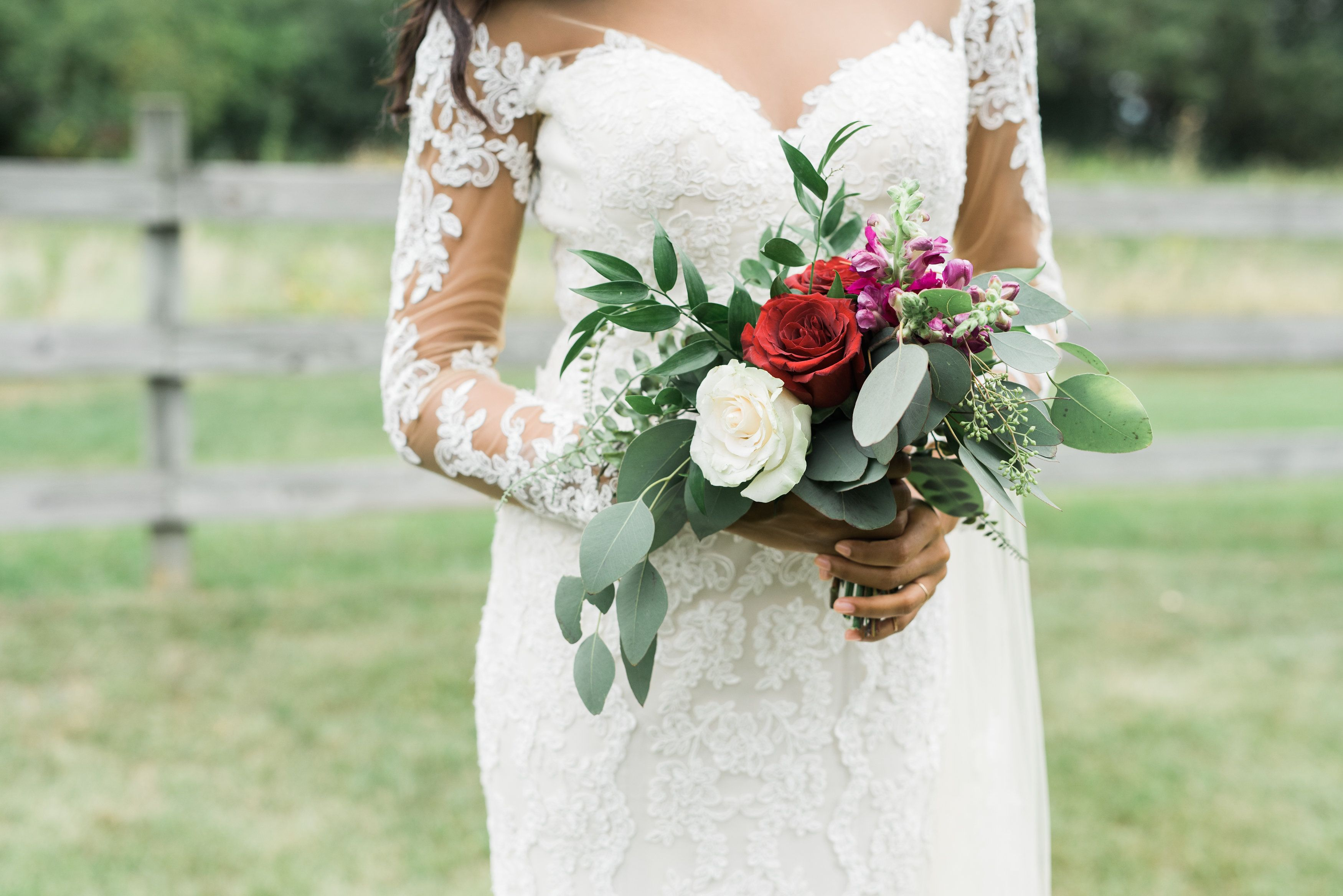 Simple Wedding Bouquet Bridal Bouquet With Pops Of Color