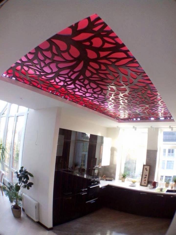 Kitchen ceiling kitchens pinterest plafond plafond design et faux plafond for Deco laser maison