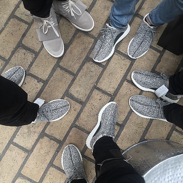 Adidas Yeezy Boost 350 'Turtle Dove' x Kanye West On Feet