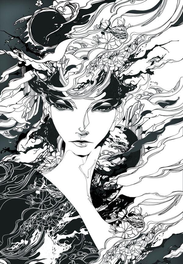 엄지현 by THENEW ART AGENCY , via Behance
