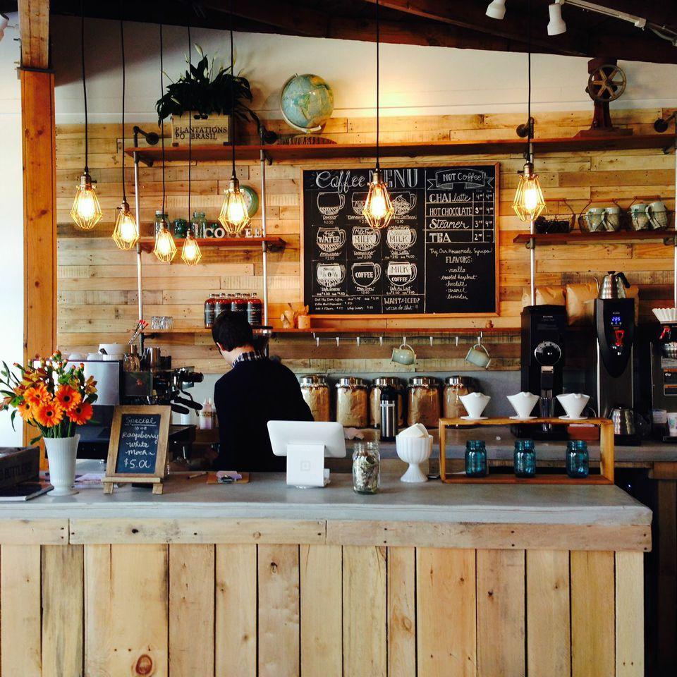 Pin by Yvonne Haney on brunch side Coffee shop counter