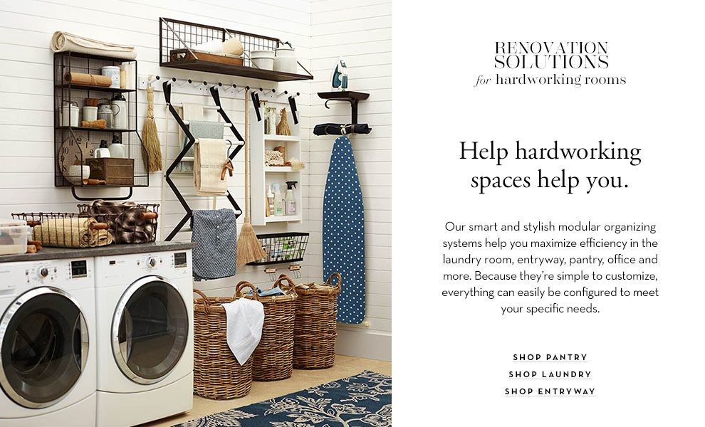 Loving This Laundry Room Home Renovation Pottery Barn Home