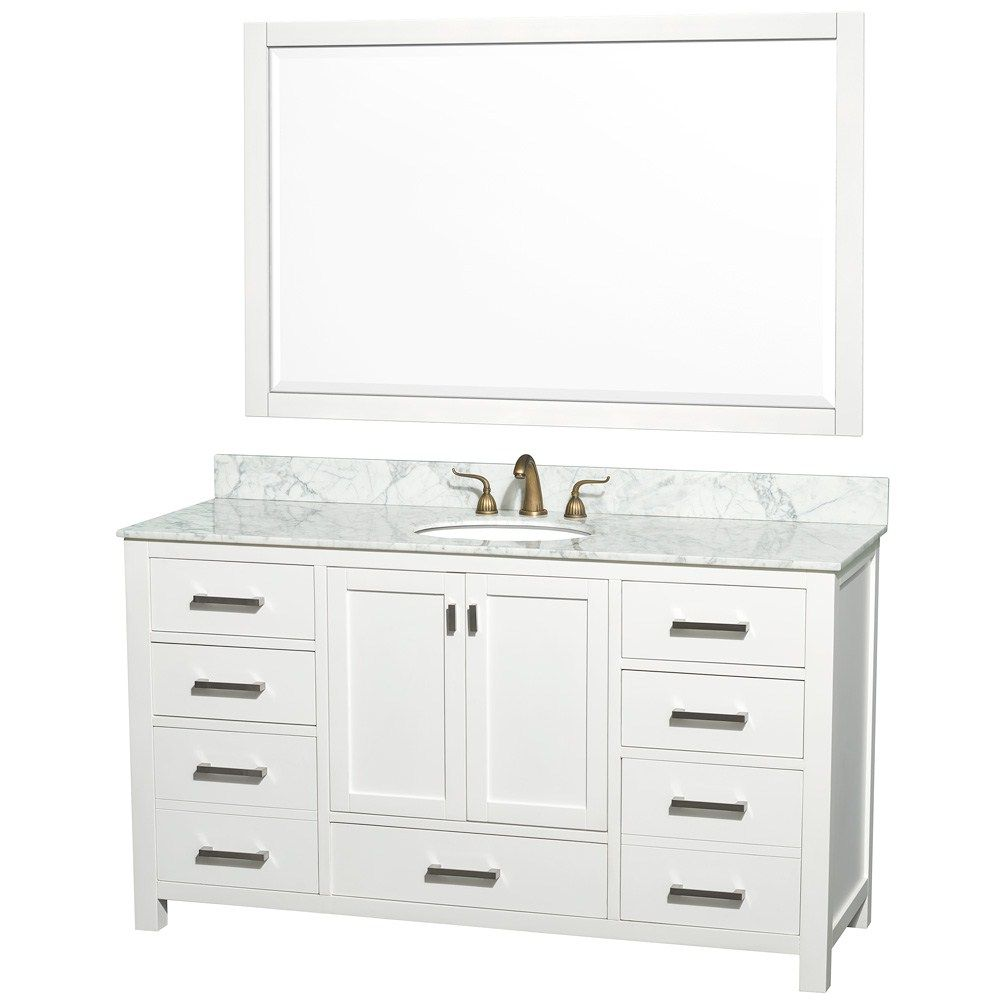 60 Wide Single Sink Vanity Bathroom Bathroom Single